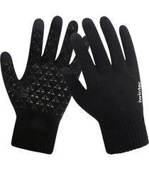 mens guanti touch screen invernale lavorato a maglia guanti outdoor antiscivolo caldo con dito pieno guanti