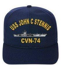 uss john c stennis cvn-74 embroidered ship cap