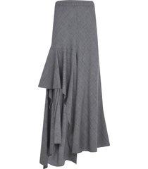 alexander mcqueen asymmetric checked skirt