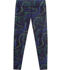 leggings skinny estampado facol color verde, talla l