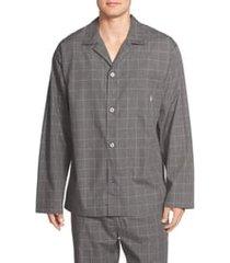 men's polo ralph lauren woven pajama top, size medium - grey