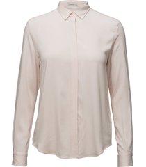 featherweight twill blouse blouse lange mouwen roze gant
