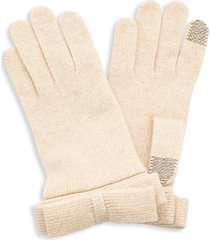 portolano women's nuvola tech-touch knit gloves - oatmeal