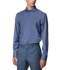 boss men's jason open blue shirt