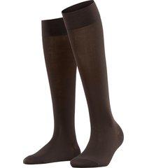 women's falke touch knee high socks, size 39/42 - brown
