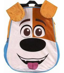 mochila infantil de costas pets pelúcia