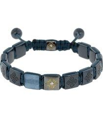 aquamarine lock bracelet