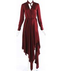off-white foulard silk maxi dress