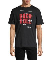 zadig & voltaire men's graphic cotton tee - black - size m