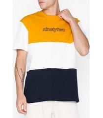 topman 92 print panelled t-shirt t-shirts & linnen multicolor