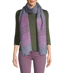 striped wool silk scarf
