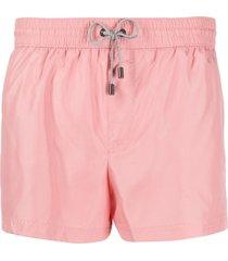 dolce & gabbana zipped pocket swim shorts - rosa