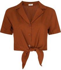 24 colours blouse bruin 30238a