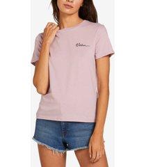 volcom juniors' crewneck cotton t-shirt