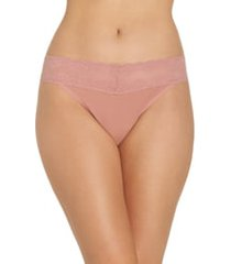 women's natori bliss perfection thong, size one size - pink
