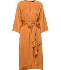 slluise dress knälång klänning orange soaked in luxury