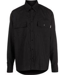 marni multi-pocket military shirt - black