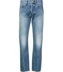 balenciaga new twisted leg denim jeans - blue