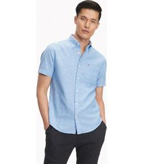 tommy hilfiger men's custom fit essential solid shirt regatta - s