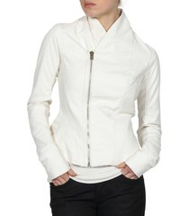 women's leather jacket, white color jacket women, biker leather jacket