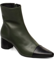 rocket career shoes boots ankle boots ankle boot - heel grön anny nord