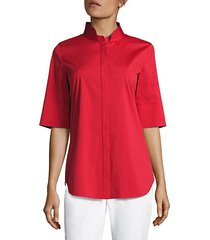 sander button-front blouse