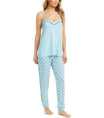 alfani printed tank top pajama set, created for macy's