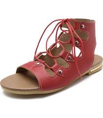 sandali gladiatore con lacci aperti di grandi dimensioni