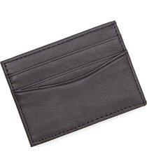 royce leather men's leather magnetic money clip wallet - black