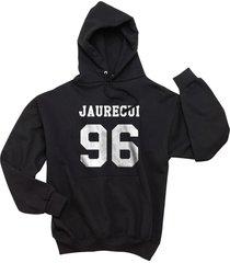 jauregui 96 lauren jauregui on front unisex pullover hoodie black
