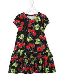 monnalisa cherry print dress - black