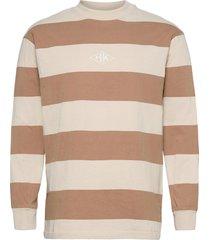 boxy tee long sleeve t-shirts long-sleeved creme han kjøbenhavn