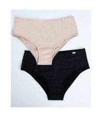 kit 2 calcinhas delrio biquíni feminina