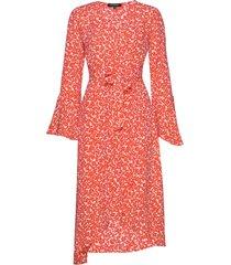 dress jurk knielengte oranje ilse jacobsen