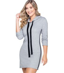 vestido corto para mujer gris jaspe mp