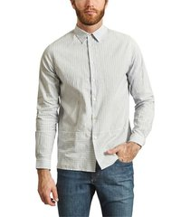 cotton and linen striped shirt