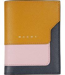 marni logo patchwork billfold wallet