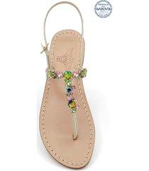 dea sandals licampi jewel thong sandals