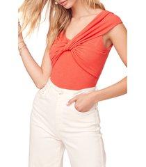 women's astr the label tristyn bodysuit, size large - pink