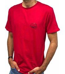 camiseta básica big logo rojo fist