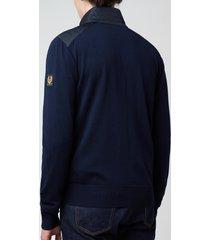 belstaff men's kelby zip-through cardigan - washed navy - xxl