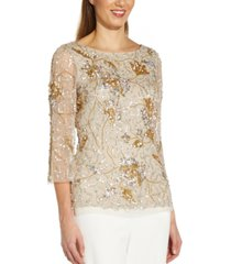 adrianna papell petite embellished top