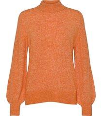 fqhill-pu-balloon stickad tröja orange free/quent
