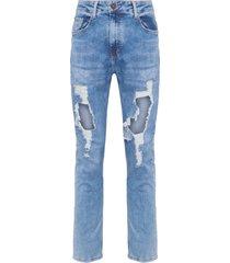 calça masculina rock capri riad 3d - azul