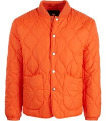 american stitch men's snap-up bomber jacket
