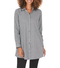 women's foxcroft cici after party stripe non-iron stretch tunic shirt