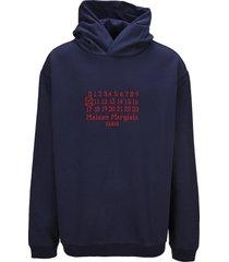 maison margiela martin margiela number logo hoodie