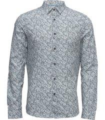 gillice micro graffi skjorta casual blå calvin klein