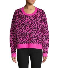xavier animal-print sweater