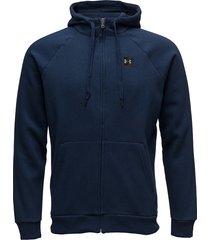 rival fleece fz hoodie hoodie trui blauw under armour